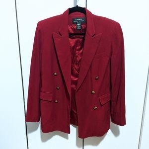 Ralph Lauren Petite Red Wool Blazer